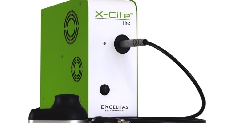 The X-Cite FIRE has improved LED coverage, providing a closer match to mercury arc lamp output. Image courtesy of Excelitas Technologies Corp.