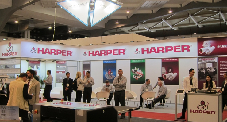 The Harper Corporation of America team  highlighted its latest anilox roll developments.