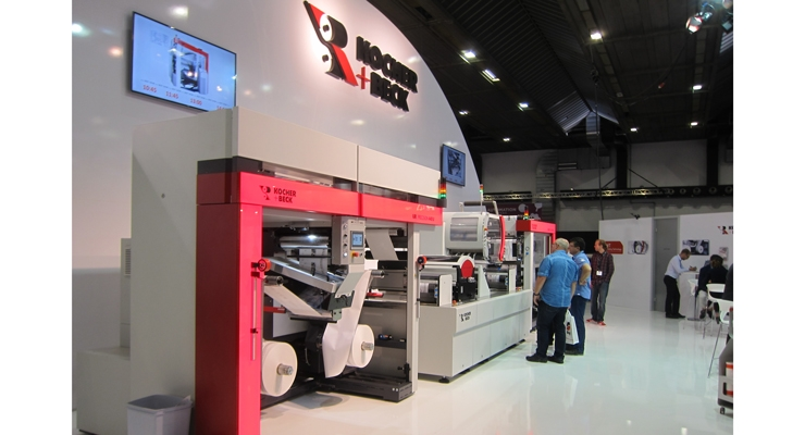 Kocher + Beck showed its UR Precision 440 nonstop winding equipment.