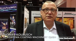 Thomas Kolbusch of Coatema Discusses New Developments, LOPEC