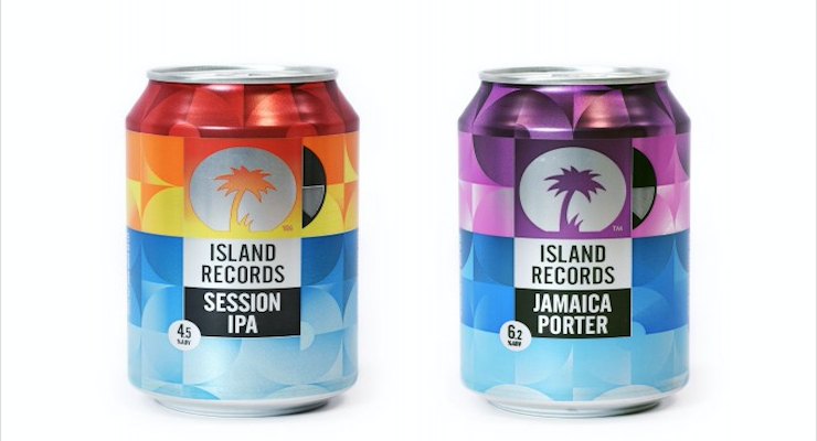 Crown's Musical Craft Beer Can for Island Records Wins Best Can at Annual World Beverage Awards