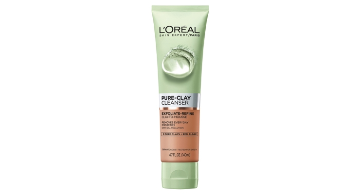 Clay fuels this cleanser   that refines and  exfoliates skin.
