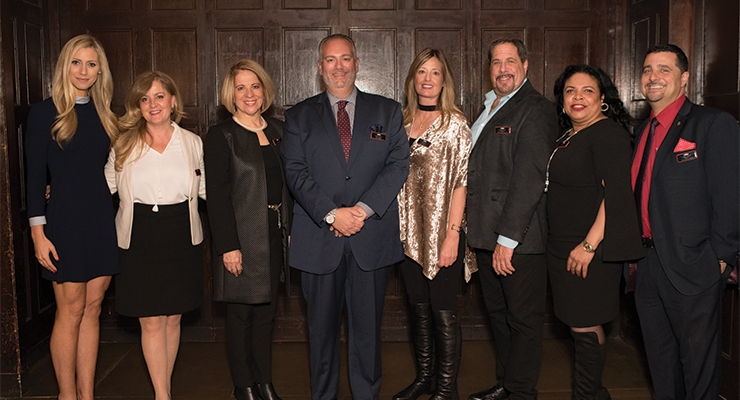 2018 CIBS officers and members (L-R): Allyson Tobin, Disc Graphics; Balla Murillo, Hampden Paper; Judy Vincenty, Millennium3 Packaging Group; Benny Calderone, HCP Packaging; Jenifer Brady, Brad-Pak; Charles Marchese, ABA Packaging Corporation; Myoschi T. Oriol, Estee Lauder Companies, Inc.; Nick LoPrinzi, Color Carton