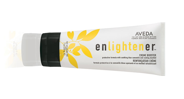 Aveda's Enlightener Creme Booster tube will utilize a dispensing closure with 25% PCR content.
