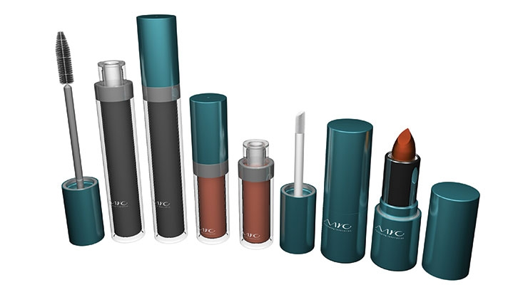 MYC Packaging's Performing Collection offers a fully customizable shape,  with different combinations of heads and applicators.