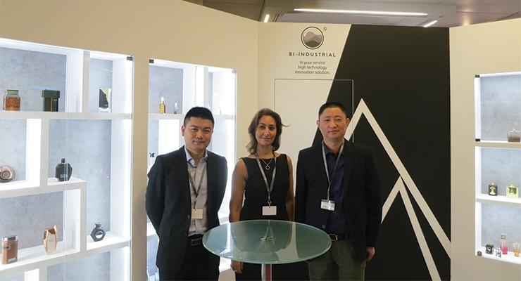 Zhejiang B.I. Industrial (L-R):  Eric Shen, Aida Kechrida, David Chen
