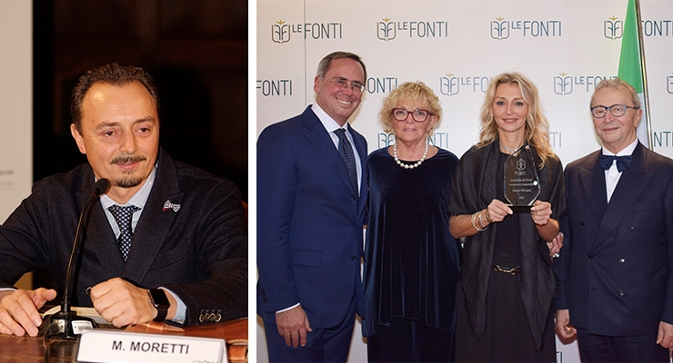 Lumson Is Honored at 'Le Fonti Awards'