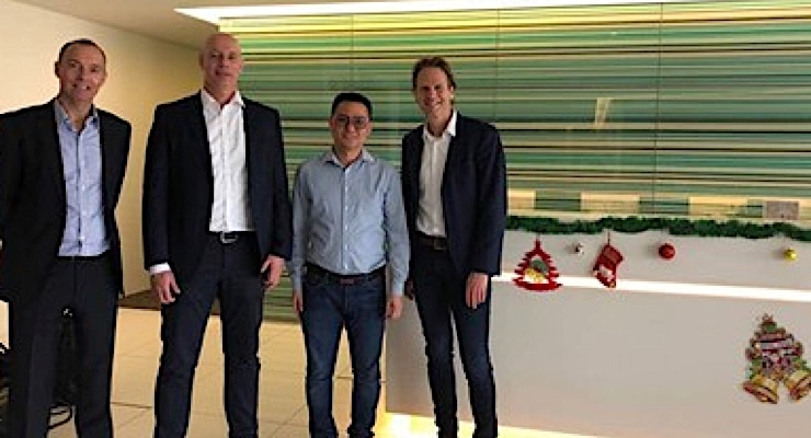 Tim Klappe, managing director, MPS Systems Asia, Wim van den Bosch, CEO, George Tan, area sales manager, and Willem Huijink, CFO.
