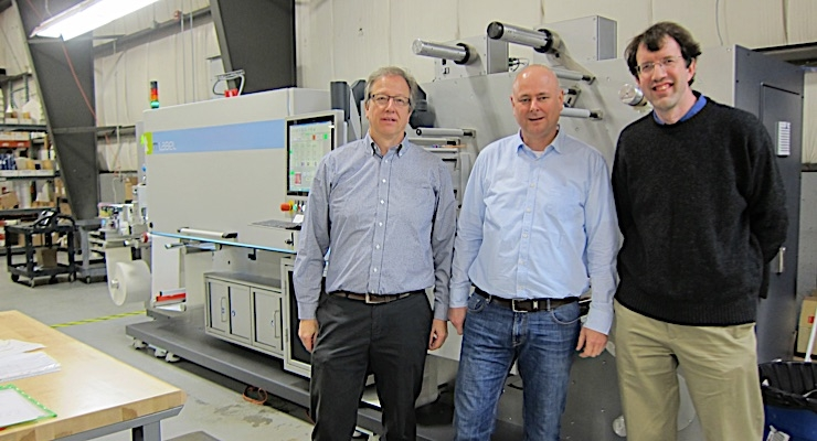 Olaf Walter, president of mPrint LLC (L), Michael Morlock, managing director of mPrint, and Alex Henkel, president of EIM.