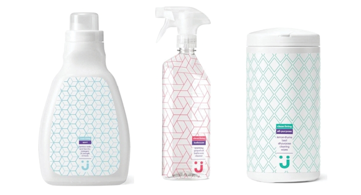 Jet.com's new private label line, Uniquely J,  features cleaning products with unique, modern scents.