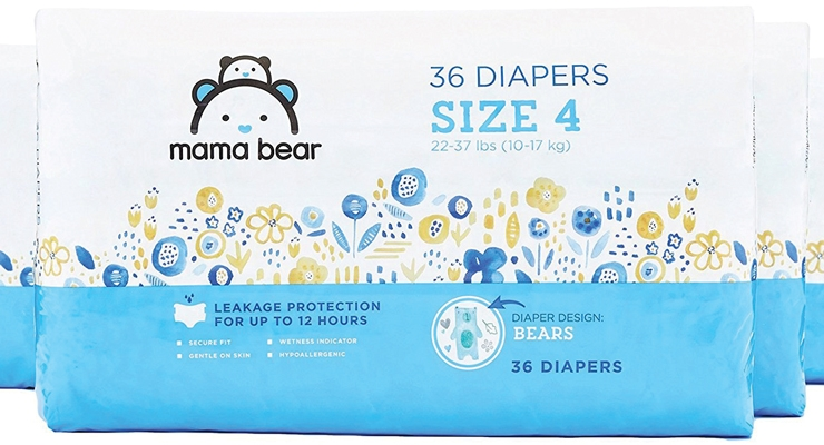 Amazon is making its second attempt at the private label baby diaper market. This time its diapers will be under the Mama Bear brand.