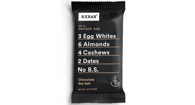 RXBAR promotes its bars with a short list of simple, recognizable ingredients on the front of packages.