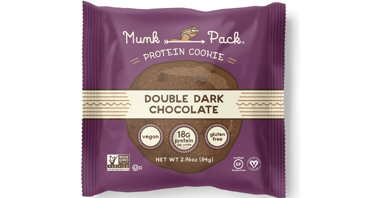 Munk Pack Protein Cookies offer 18 grams of plant-protein from nut butters and grains.