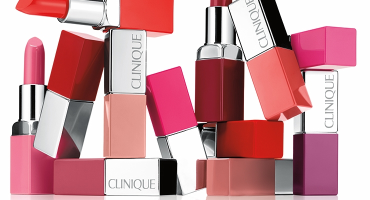 The outer packaging for Clinique Pop Lip Colour + Primer made it easier for a woman to identify the shade of lipstick in her purse; the case also serves as a mirror for easy application.