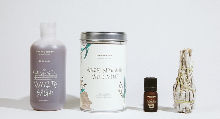 Forest-based products from Juniper Ridge include solid  fragrance, essential oils, tea and incense.