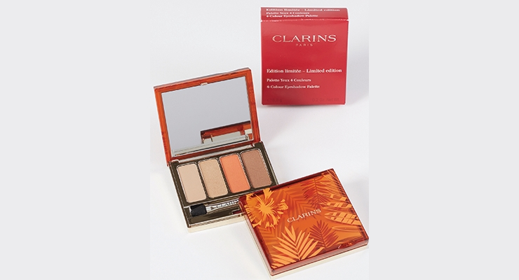 Color Cosmetics - Gold Award: Limited Edition 4-Colour Eyeshadow Palette for Clarins by HCP Packaging USA, Inc.