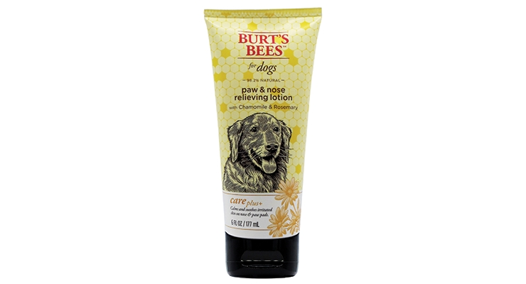 BEST SUSTAINABLE TUBES GOLD:  Burt's Bees for Dogs Paw & Nose Relieving Lotion Tube manufacturer: Berry Global
