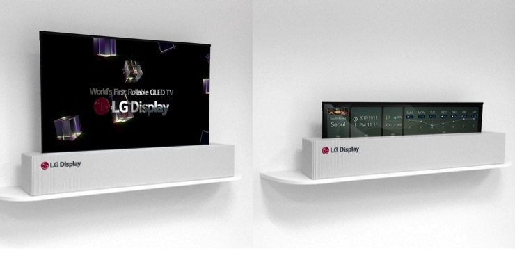 LG Display's rollable display. (Source: LG Display)
