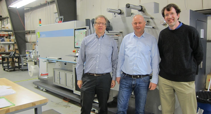 From left, Olaf Walter, president of mprint LLC, Michael Morlock,  managing director of mprint, and EIM president Alex Henkel.