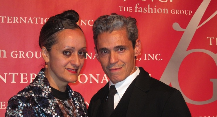 Isabel and Ruben Toledo, designers, presented the Beauty/Fragrance Entrepreneur Award