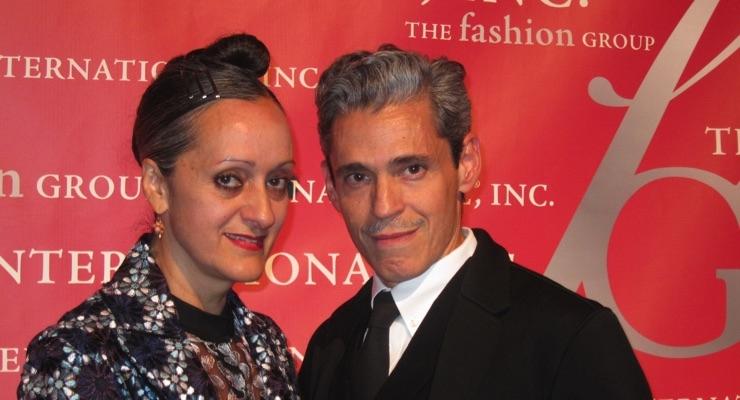 Isabel and Ruben Toledo, designers, presented the Beauty/Fragrance Entrepreneur Award