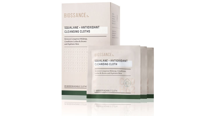 Biossance's Squalane + Antioxidant Cleansing Cloths are ultra-moisturizing makeup remover wipes.