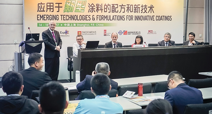 "The annual CHINACOAT Conference – ""Emerging Technologies and Formulations for Innovative Coatings."""