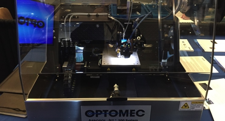 Optomec Showcases Aerosol Jet 3D Printing Systems at 2018FLEX