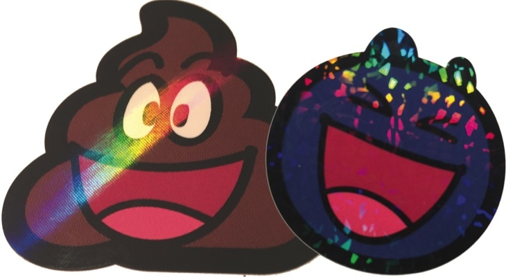 Kids stickers get holographic effects