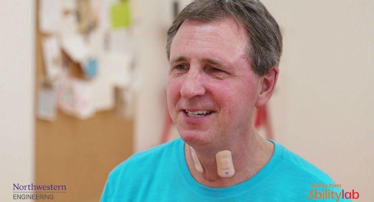 Throat-Worn Stretchable Electronics Could Improve Stroke Rehabilitation
