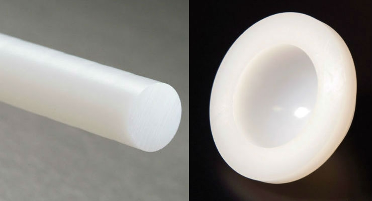 Various shapes of ultra-high molecular weight polyethylene (UHMWPE) from Total Plastics.