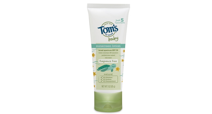 Tom's of Maine's baby sunscreen scored well with EWG.