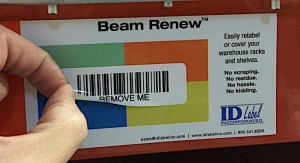 ID Label offering easy-release bar code labeling