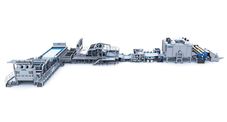 Machinery supplier Andritz has seen a lot of investment in new spunlace lines, especially in Asia.