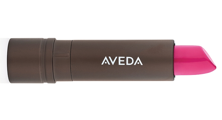 Aveda's Feed My Lips lipstick collection connects lip color to hair color, to complement the two shades. Pure Nourish-Mint Lipstick and Lip Treatment are housed in a sleek prestige metallic bronze lipstick case with 40% PCR aluminum; the cap is easy to recycle with aluminum beverage cans. Pure Nourish-mint Lip Liner and Lip Primer wood pencils have the FSC logo.