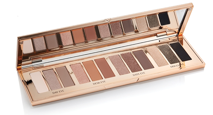 HCP UK created The Instant Eye Palette for Charlotte Tilbury. The customized palette holds12 eye-shadow pans with a look for each color group screen printed alongside.