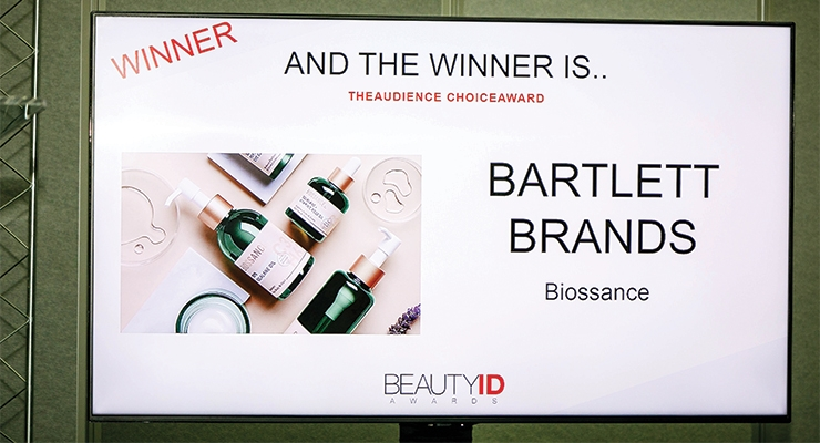 And the Audience Choice Award went to Biossance.
