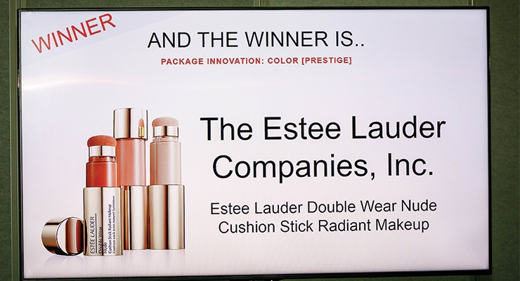 Estée Lauder Double Wear Nude Cushion Stick Radiant Makeup won an IPDA for Package Innovation: Color (Prestige).