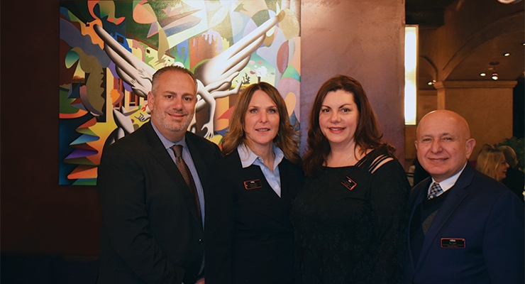 CIBS's luncheon committee (L-R): Benny Calderone, CIBS president; Kristen Tomich, Annette Saenger, Ray Feghhi