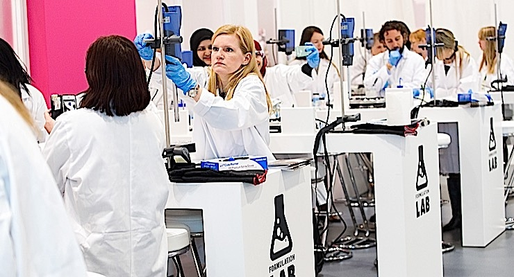 The Formulation Lab is a popular component of In-Cosmetics Global.