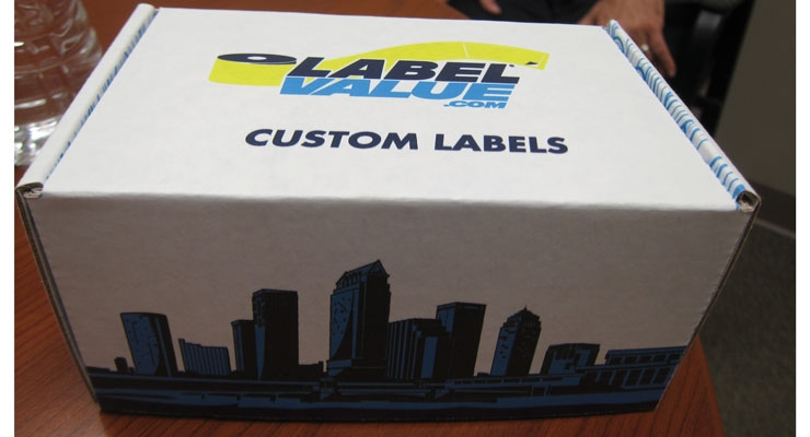 Local marketing: a box of label samples featuring the Tampa Bay skyline gets sent to local brand owners and craft beer breweries.