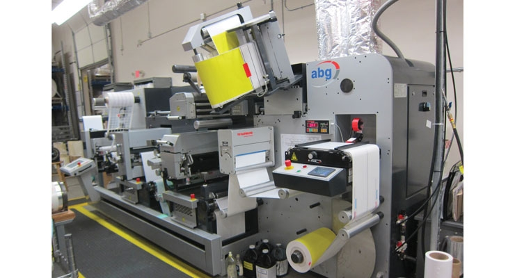 An AB Graphic Digicon Series 3 handles digital label finishing at LabelValue's Tampa Bay manufacturing facility.