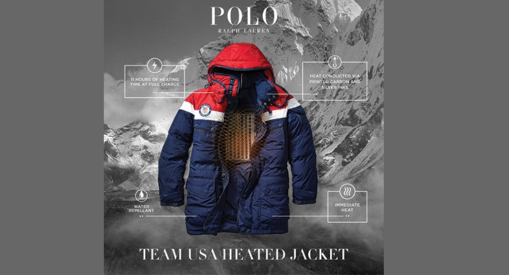 The layout for the Ralph Lauren limited-edition Winter Olympics opening  ceremony parka. (Photo courtesy of Ralph Lauren)