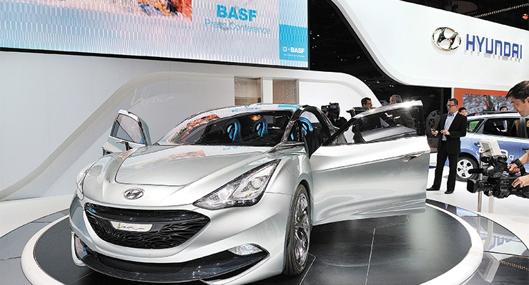 Hyundai concept car at the Geneva Motor Show (Photo courtesy BASF)