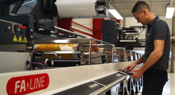 The new 14-color FA flexo press from Nilpeter will primarily be used for high-end beverage labels, craft beers, wine, spirits, cosmetics, and high-end combination labels.