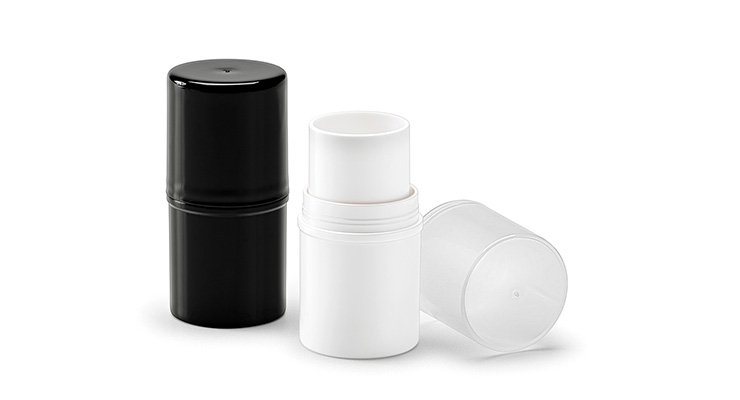 Qosmedix Adds Round Twist-Up Makeup Stick Containers