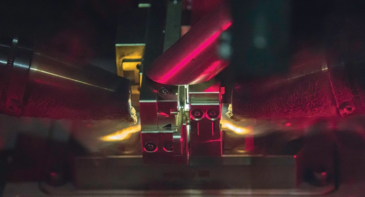 Dual beam technology in the Advanced Welding Lab at Cadence allows laser welding on opposite sides of a complex part at the same time. Image courtesy of Cadence.