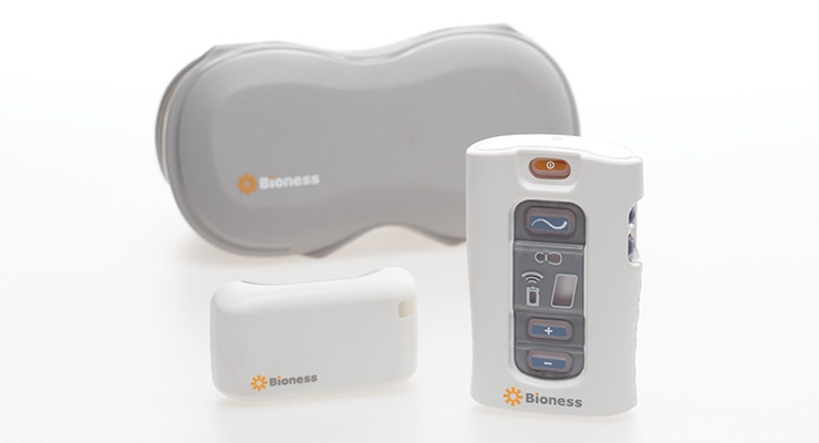 StimRouter is designed to treat chronic pain of a peripheral nerve origin, excluding the cranial facial region. Image courtesy of Bioness Inc.
