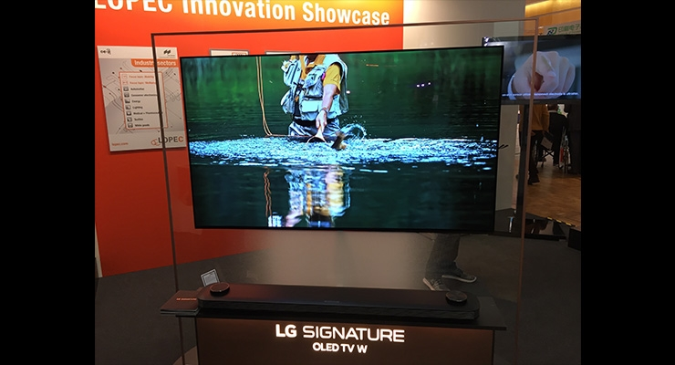 LG showed its LG Signtaure OLED TV at LOPEC 2018.