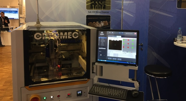 Optomec showed its new Aerosol Jet HD System at LOPEC 2018.